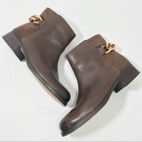 fcb185fb5af30f SAM EDELMAN • Chester Chain Booties Brown Gold